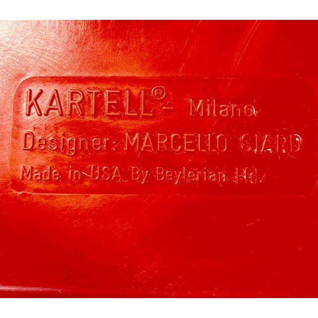 Mid-Century Modern Vintage Kartell Plastic Shelves-a Pair For Sale - Image 3 of 12