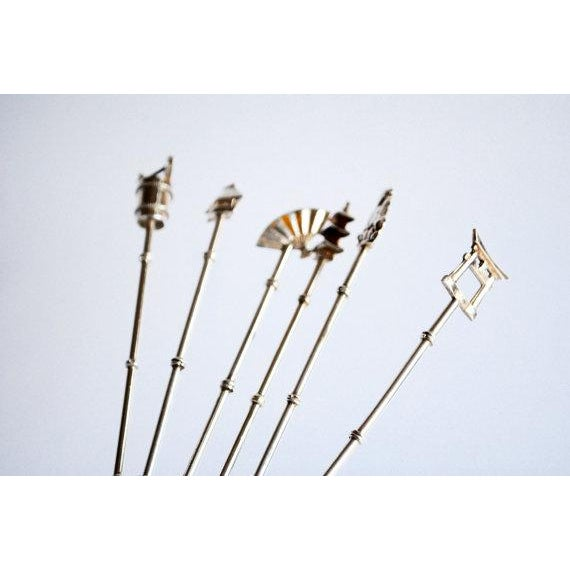 Sterling Silver Cocktail Spoons /Stirrers - Set of 6 For Sale - Image 4 of 4