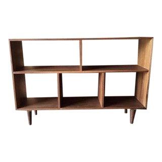 Custom walnut Mid Century Style Bookshelf For Sale