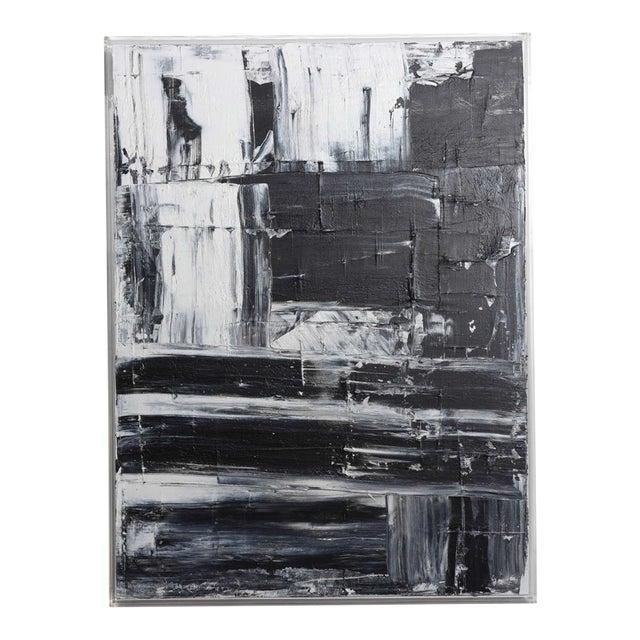 Renato Freitas Original Oil on Canvas, 2015, Black and White 1 For Sale