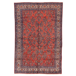"Vintage Persian Sarouk Rug, 7'8"" X 11'6"" For Sale"
