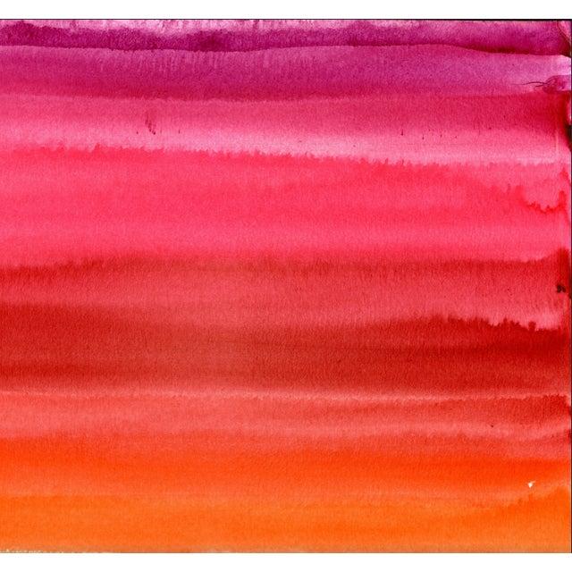 2010s Pink Red Orange Original Watercolor Artwork For Sale - Image 5 of 9