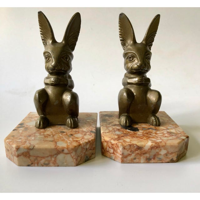 This set of charming Art Deco bookends signed by French sculptor Hippolyte Moreau (1832-1927) dates to the 1920s....