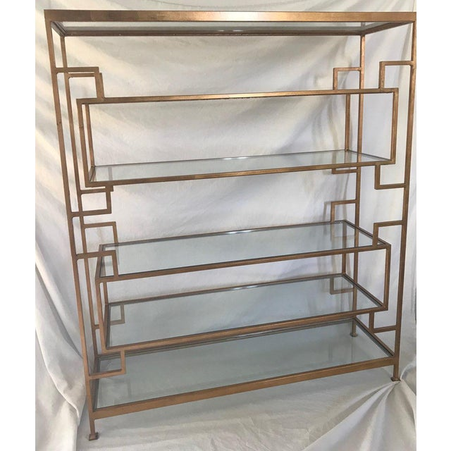 Worlds Away Worlds Away Doris Gold Leaf Etagere For Sale - Image 4 of 5