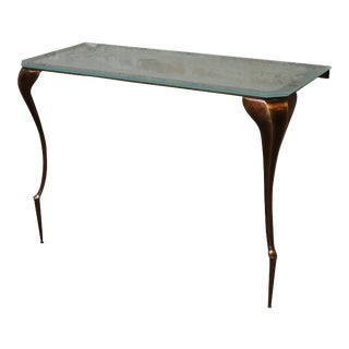 Modern Lychorinda Cast Bronze Console Table For Sale