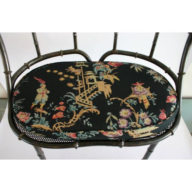 Iron Faux Bamboo Settee For Sale In New York - Image 6 of 7