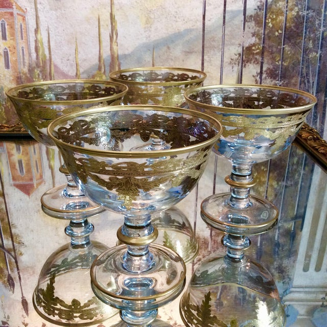 Arte Italica Vetro Gold Dessert Bowls - Set of 4 - Image 5 of 10