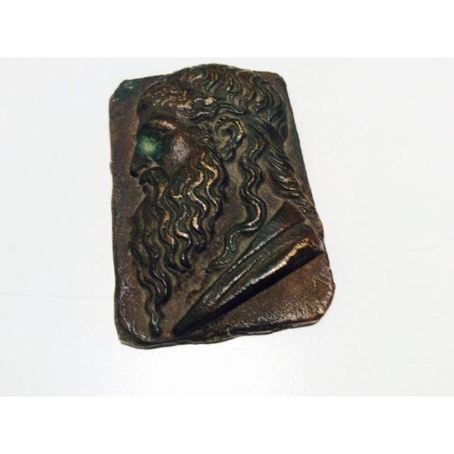 Antique Classical Cabinet Bronze Profile Portrait - Image 2 of 7