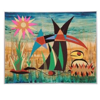 Large-Scale Harold Laynor Mixed-Media Art
