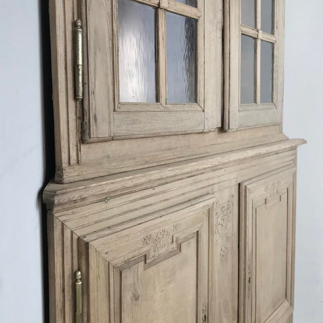 Grand 19th Century Country French Louis XVI Corner Cabinet For Sale - Image 11 of 13