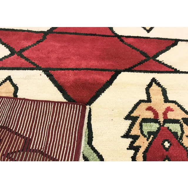 "Contemporary Turkish Nomadic Long Pile Tulu Rug - 4'7"" X 6'9"" For Sale - Image 3 of 3"