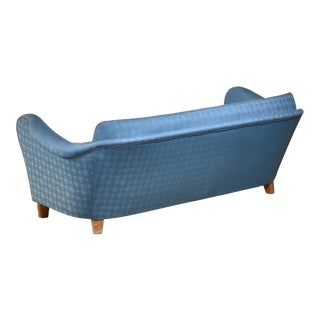 Swedish Blue Sofa, 1930s For Sale