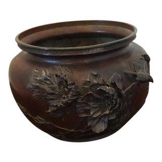 Japanese Bronze Jardiniere For Sale