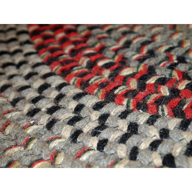 1930s Antique American Handmade Braided Oval Rug - 2′2″ × 3′9″ For Sale - Image 10 of 10