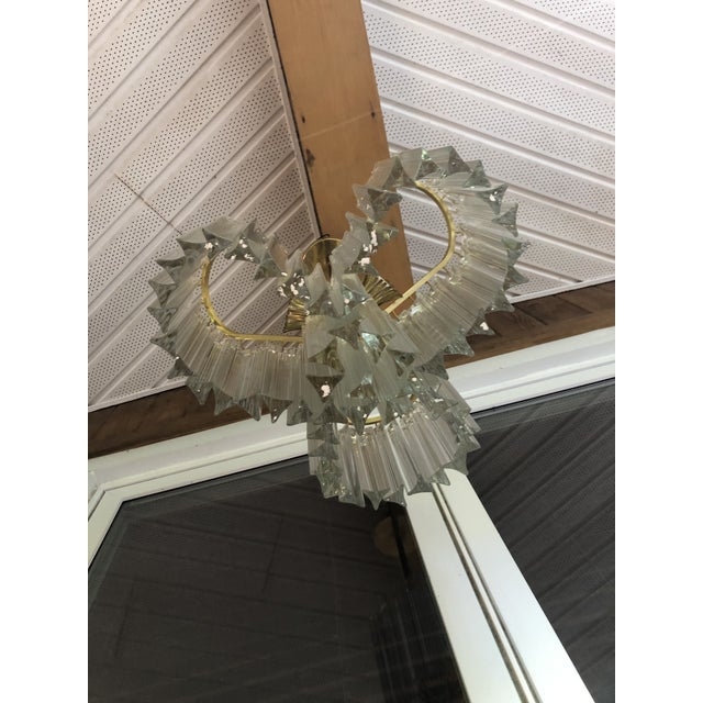 1970s Vintage Italy Mid-Century Venini Camer Murano Glass Chandelier For Sale - Image 5 of 13
