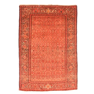 """Antique Malayer Persian Rug-4'4"""" X 6'6"""" For Sale"""