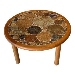 1960s Danish Modern Tue Poulsen Tiled Coffee Table For Sale