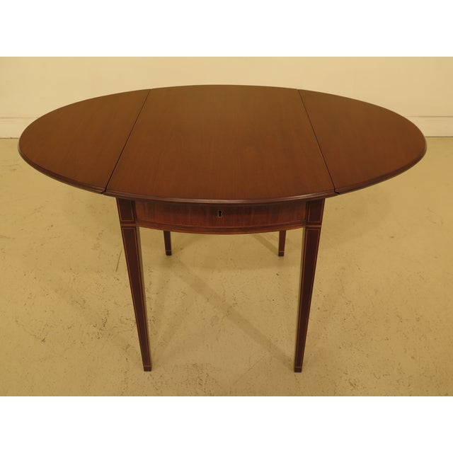 1940s Federal Kittinger Colonial Williamsburg Mahogany Pembroke Table For Sale - Image 9 of 13