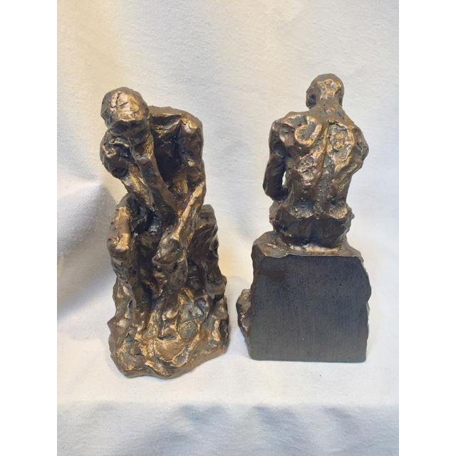 Brutalist Thinking Man Bookends- A Pair - Image 4 of 5