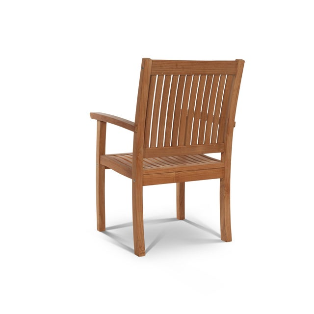 The Buckingham Teak Wood Outdoor Dining Armchair Bench is designed and hand-crafted from naturally aged teak wood....