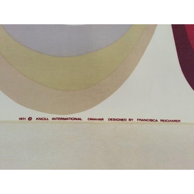 "1971 Mid-Century Knoll Wall Panel, ""Omahar"" - Image 8 of 8"