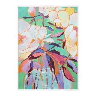 Santorini 1 by Lulu DK in White Framed Paper, Medium Art Print For Sale