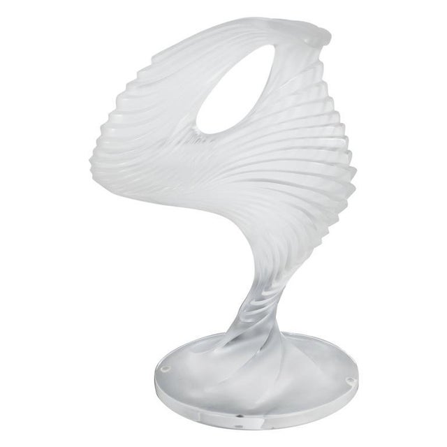"""Lalique """"Trophee"""" Sculpture in Frosted Clear Crystal, France, circa 1995 For Sale - Image 10 of 10"""