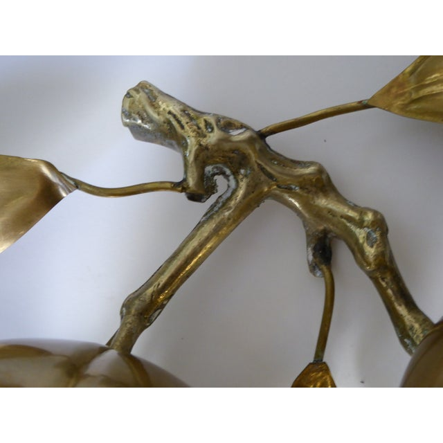 Large Mid Century Brass Fruit Table Sculpture - Image 5 of 6