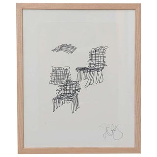 Rare Frank Gehry Signed Lithograph For Sale