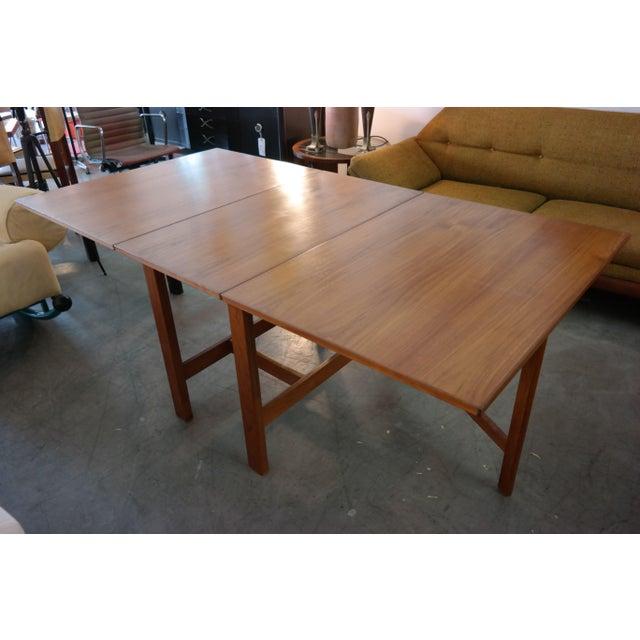 Danish Modern Teak Gate Leg Drop Leaf Dining Table For Sale In Los Angeles - Image 6 of 6