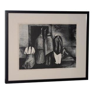 """José Clemente Orozco """"The Requiem"""" Lithograph C.1928 For Sale"""