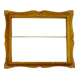 Early Gilt Gesso Shadow Box Wall Shelf With Brass Filigree Adornments For Sale