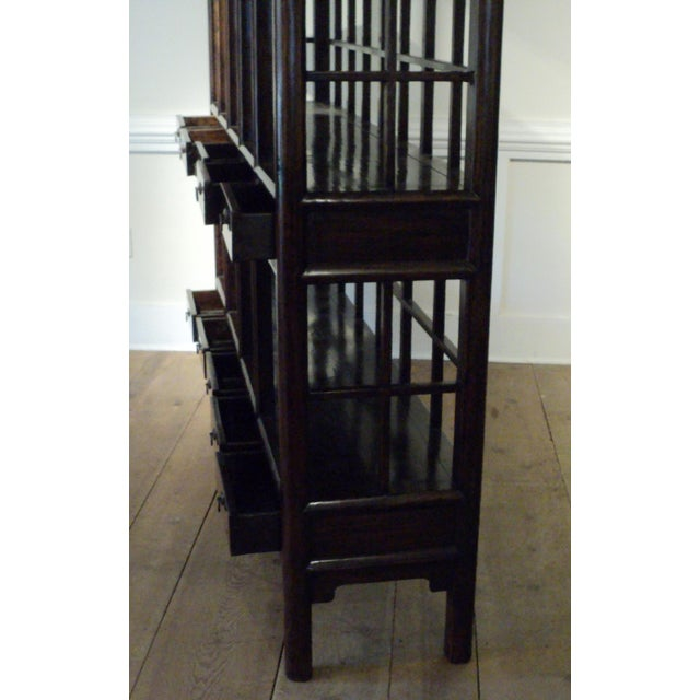 Large Antique Chinese Solid Wood Multi Drawer Etagere - Image 11 of 11