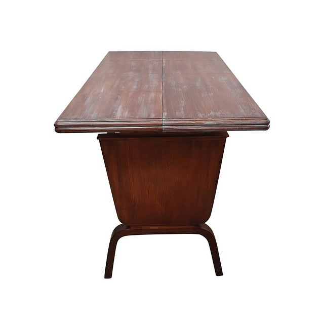 Wood Danish Moderne Extending Game Table For Sale - Image 7 of 7