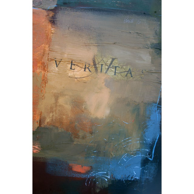 Abstract Painting, Veritas & Queen of Spades - Image 3 of 3