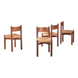 Charlotte Perriand Dining Chairs , France, 1960s For Sale