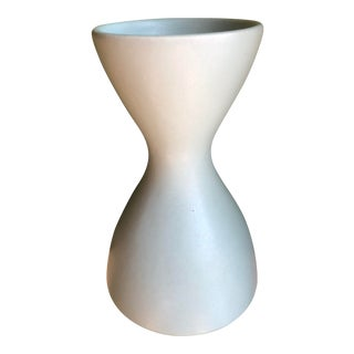 1950s Mid-Century Ceramic Hourglass Vase For Sale