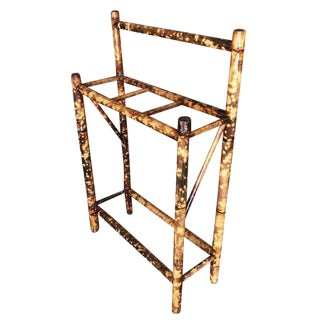 Restored Antique Tiger Bamboo Umbrella Stand For Sale