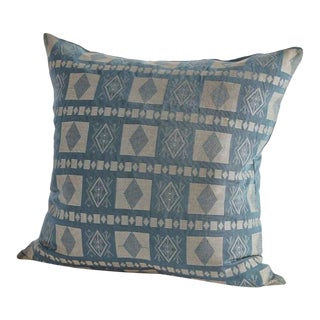 Handwoven Katsina Pillow in Turaco Blue