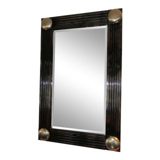 1980s Art Deco Jimeco Lacquered Goatskin Mirror