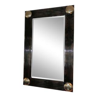 1980s Art Deco Jimeco Lacquered Goatskin Mirror For Sale