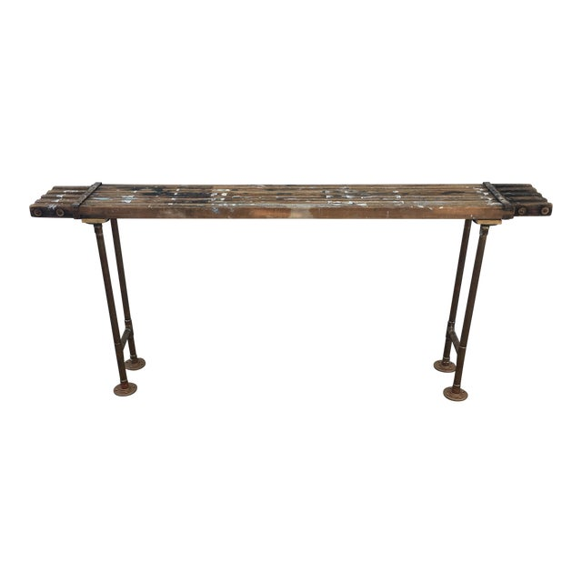 Antique Scaffolding Table For Sale