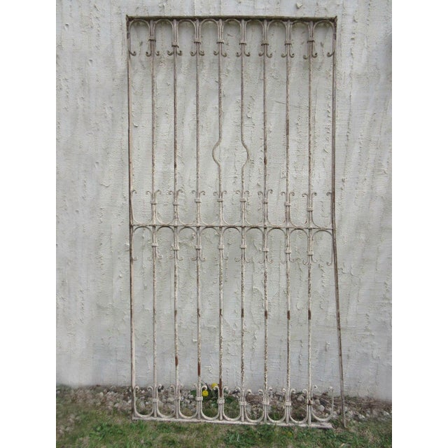 Antique Victorian Iron Gate Architectural Salvage - Image 2 of 6