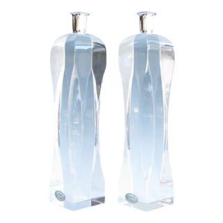 Vintage Ritts Co Astrolite Sculptural Acrylic Candle Holders - a Pair For Sale