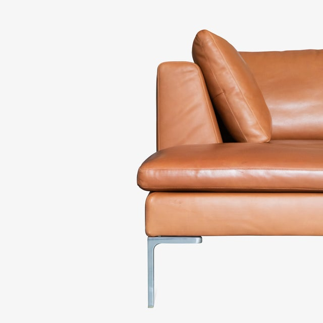 B&b Italia Charles Sectional in Cognac Leather by Antonio Citterio For Sale In New York - Image 6 of 10