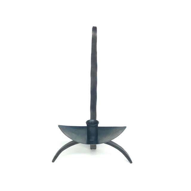 Early 20th Century Hand-Forged Iron Candle Holder For Sale - Image 13 of 13