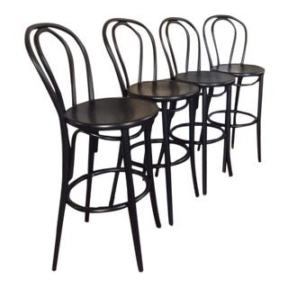 Thonet No. 18 Bar Stools - Set of 4 For Sale