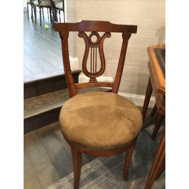 Antique Game Table and Chairs - Set of 5 For Sale - Image 7 of 8