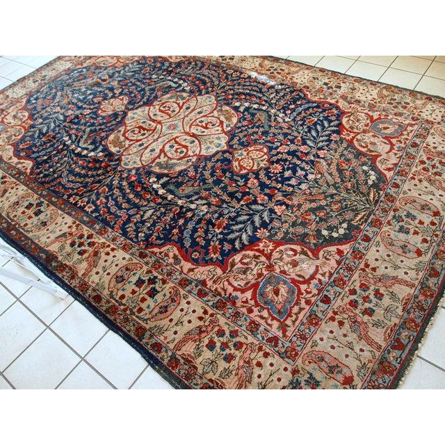Textile 1920s Antique Persian Tabriz Rug- 6′4″ × 10′2″ For Sale - Image 7 of 10