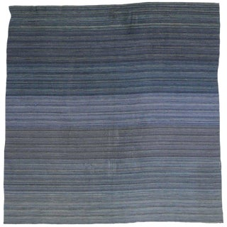 Contemporary Modern Flat-Weave Rug, Ombre Kilim With Pastel Postmodern Style, 7x7'2 For Sale